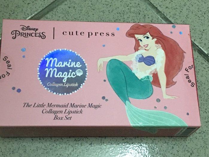 泰國 Cute Press 禮盒 迪士尼 聯名 小美人魚 光感膠原顯色防水唇膏 禮物 交換 聖誕節
