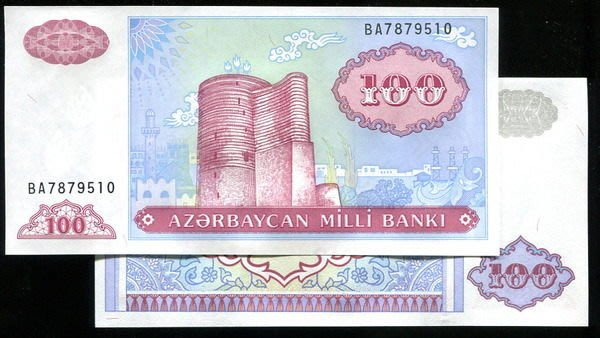 ND P18b 100M UNC 1993 AZERBAIJAN