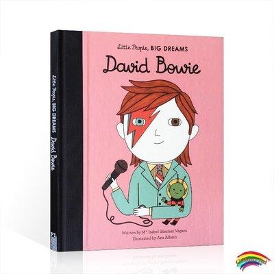 英文原版 David Bowie 大衛鮑威 勵志讀物  Little People Big Dreams 小人物大夢想系列 男孩篇 兒童藝術啟蒙繪本圖畫書 名人