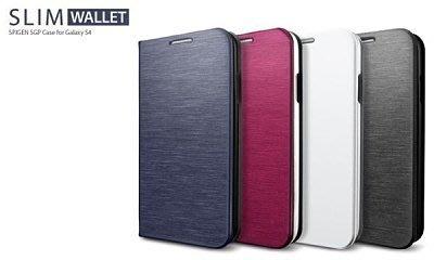 公司貨 贈防塵塞 SGP SAMSUNG S4 i9500 Slim Wallet Metallic 側翻 皮套 韓國