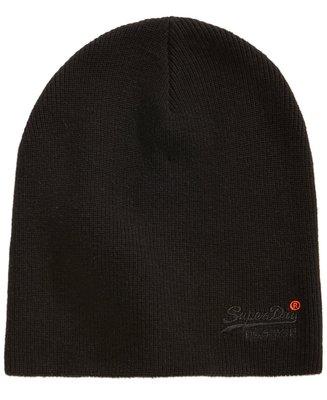 現貨 超取免運【 SUPERDRY 極度乾燥 】100% 全新正品 橘標 純棉毛線帽 / 黑色 SDH01