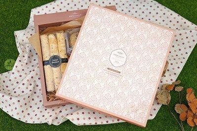 *最後數量*單層禮盒_法式優雅(空盒)_2入_652004◎內襯需另購.單層.禮盒.粉紅色.蕾絲.餅乾.蛋糕.包裝