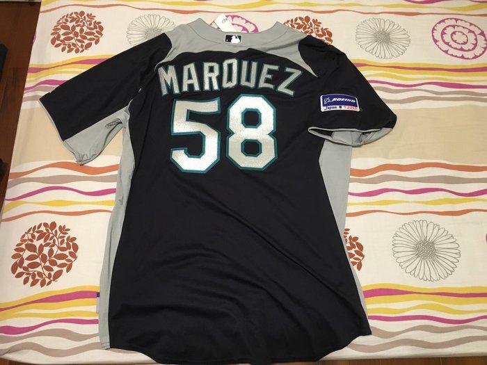 2012 MLB JAPAN OPEN MARINERS #58 MARQUEZ BP JERSEY SZ:48