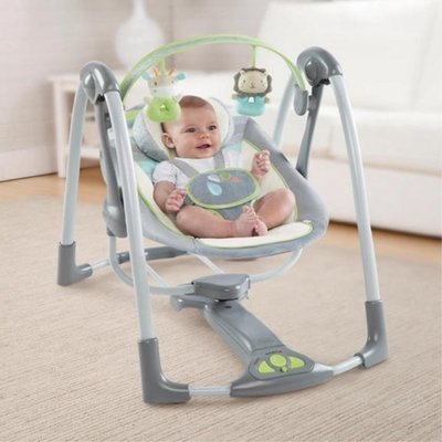ingenuity嬰兒電動搖椅哄娃神器寶寶安撫搖床新生兒睡覺躺椅搖籃