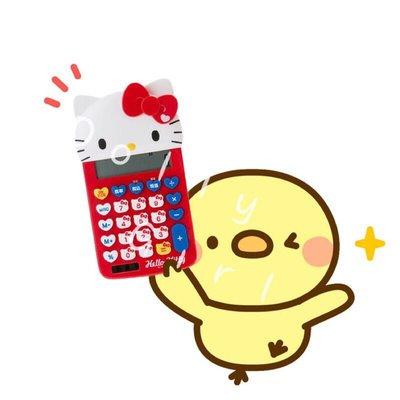 【Dolly Girl】㊣日貨 三麗鷗 Hello Kitty 可愛臉型 計算機(現貨)