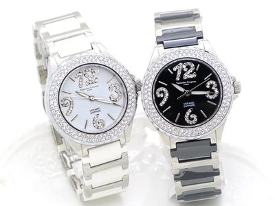 《時光流域》Valentino 范倫鐵諾 高精密陶瓷似香奈兒J12 晶鑽數字女錶/ 男錶-水晶鏡面 晶鑽框 台中市