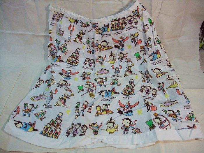 【Jia】出清 - 馬桶洋行 馬桶猴 及膝裙/A字裙/五分裙 白色 高雄
