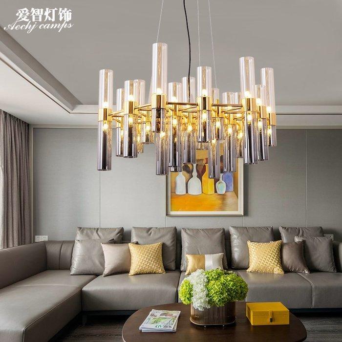 現代客廳LED玻璃吊燈北歐藝術玻璃餐廳燈工業設計師吊燈【6-674源家精品】