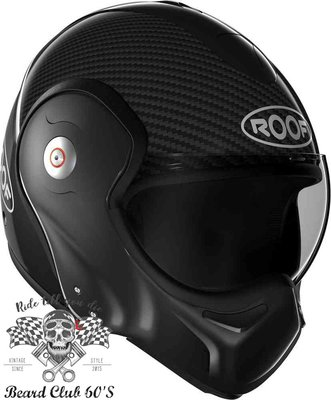 ♛大鬍子俱樂部♛ ROOF ® Boxxer Carbon 法國 復古 碳纖維 街車 多功能 掀蓋 全罩 安全帽