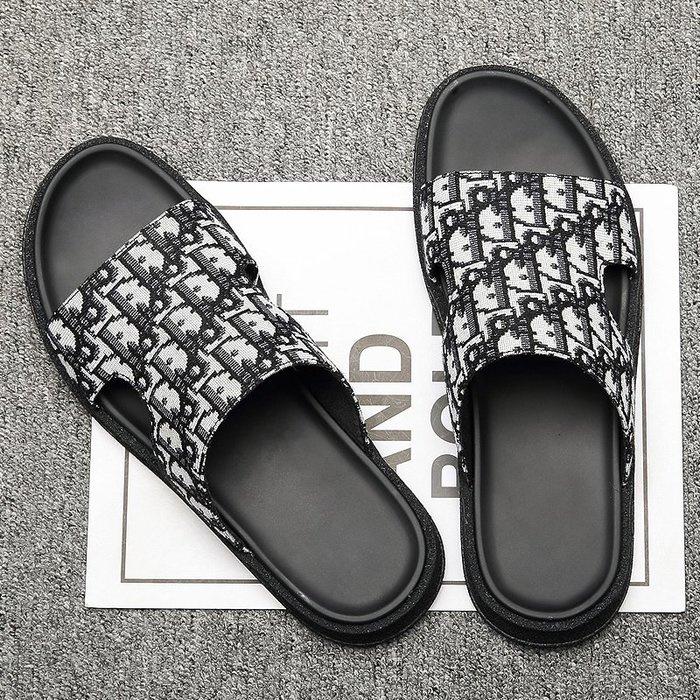6Du spot~香港2020新款夏季男士戶外沙灘涼鞋男潮流時尚休閑一字拖厚底拖鞋