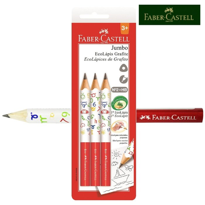 輝柏 3/4學齡大三角鉛筆(3入裝) 繪畫/彩繪 §小豆芽§ Faber-Castell 3/4學齡大三角鉛筆(3入裝)