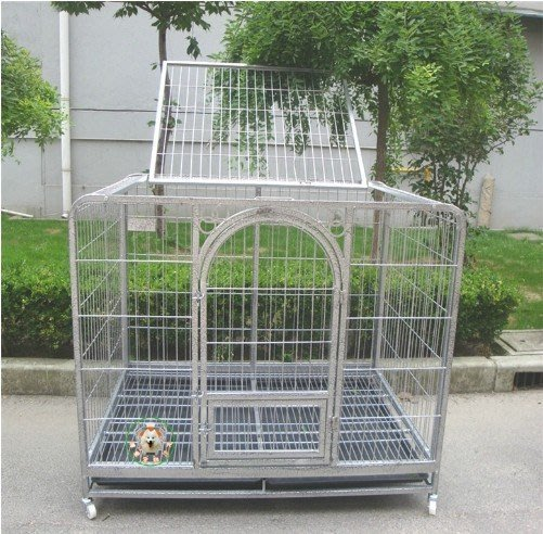 送禮大號20管加重款110方管大型犬中型犬狗籠子(帶防漏槽)