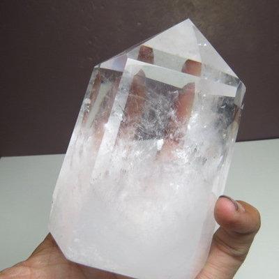 【競標樂】巴西純天然清料白水晶柱482公克(01)(淨化負性能量)(網路親民價、限量一標)原價2500元