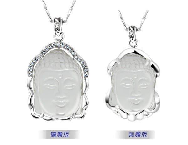((瑪奇亞朵的珠寶世界))時尚旺佛白水晶 925純銀 項鍊 手工製作 招財 禮品  護身