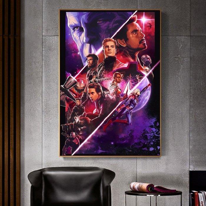 C - R - A - Z - Y - T - O - W - N 復仇者聯盟4:終局之戰Avengers: Endgame電影海報掛畫鋼鐵人薩諾斯驚奇隊長掛畫