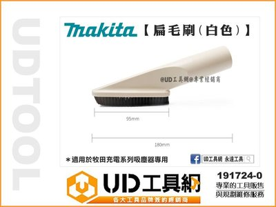 @UD工具網@ 牧田 扁長毛刷頭 吸塵器刷頭 吸塵器專用 191724-0 全系列適用 CL106 CL107