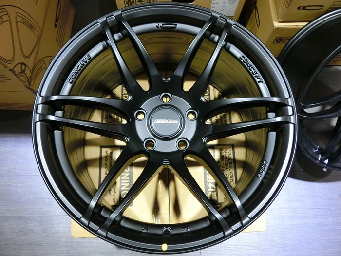 ☆光速改裝精品☆ Concave Concept 18吋 輪胎鋁圈 5孔120 8.5J 9.5J 前後配現貨:黑色