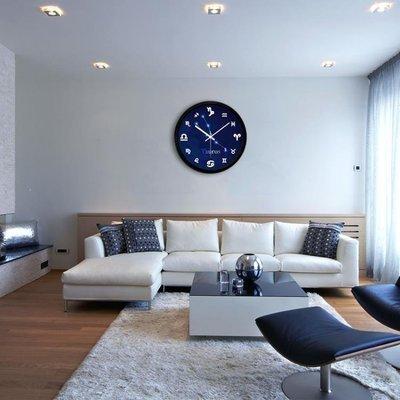 ZIHOPE 客廳掛鐘 摩門十二星座個性創意掛鐘時尚掛錶藝術時鐘電子鐘靜音現代裝飾壁鐘ZI812