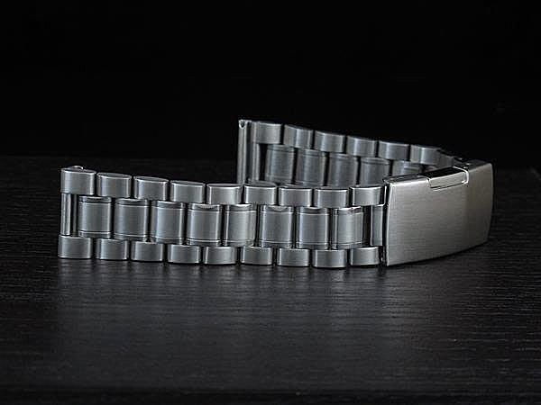 168錶帶配件 /超值亞米家sea master海馬風格20mm平頭實心不鏽鋼製錶帶speed master