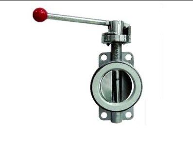 SX千貨鋪-304不銹鋼對夾式蝶閥硅膠密封圈手動 蝸輪頭2種DN40-400 D71X-16P#優質材質 #做工精緻