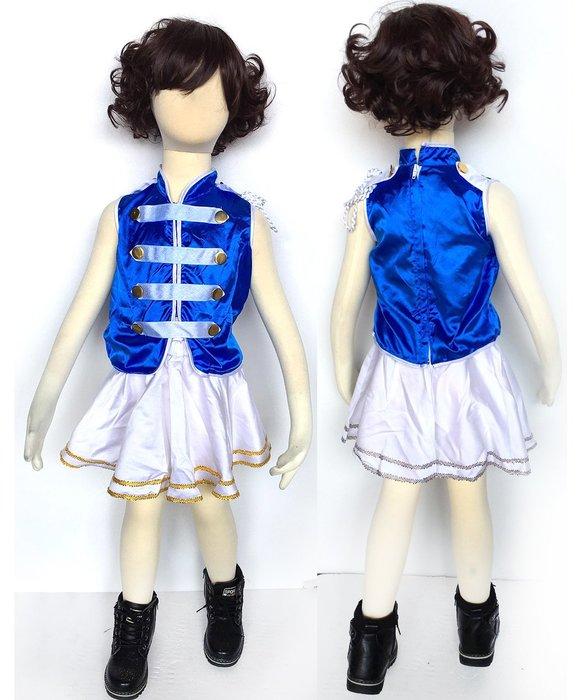 【洋洋小品啦啦隊儀隊造型服-褲裙白GB27-1】 兒童造型萬聖節服裝聖誕節服裝舞會派對服裝冰雪奇緣公主白雪灰姑娘台灣製造
