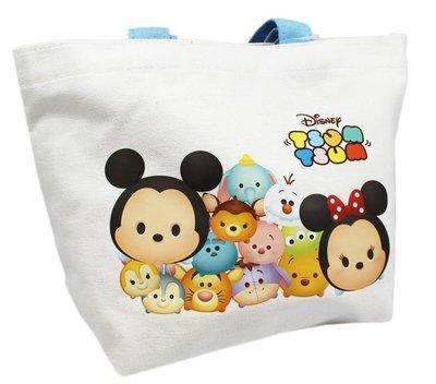 【卡漫迷】 Tsum 帆布 手提袋 ㊣版 外出包 萬用袋 餐袋 便當袋 手提包 米奇 米老鼠 米妮 雪寶 史迪奇 三眼怪