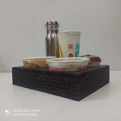 ⚠️厚7cm⚠️5孔杯架(2碗+3杯)_加厚外送泡棉杯架_另有6孔杯架☑️UberEats_Foodpanda外送員必備