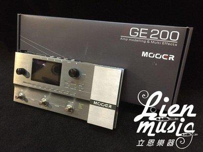 『立恩樂器 效果器專賣』免運分期贈短導 MOOER GE200 音箱模擬 效果器 電吉他 效果器 GE-200
