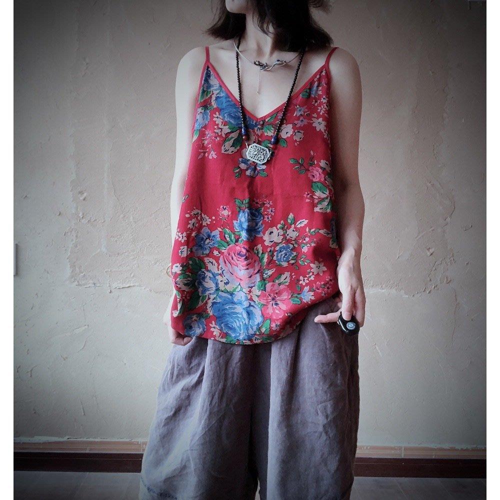 【子芸芳】原創百搭舒適雙層棉紗寬鬆吊帶