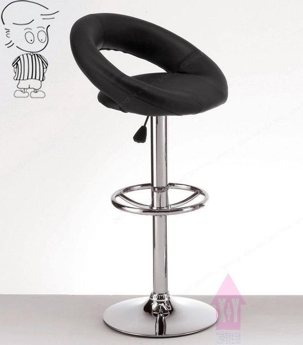【X+Y時尚精品傢俱】現代吧檯椅系列-安格斯 吧台椅(黑色).坐墊PU環保皮.摩登家具