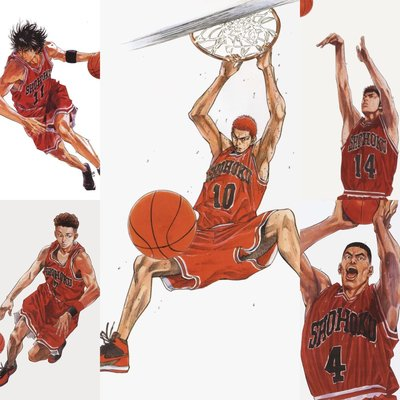 Slam Dunk 親筆畫作、簽名、私章、感謝言 50th簽名海報 井上雄彥 集英社 少年Jump 長春 灌籃高手 NBA JORDAN