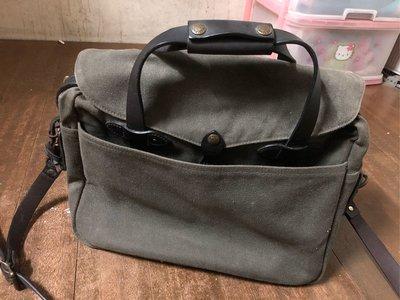 二手Filson 257 Briefcase Computer Bag #70257電腦包/公事包 Otter green色