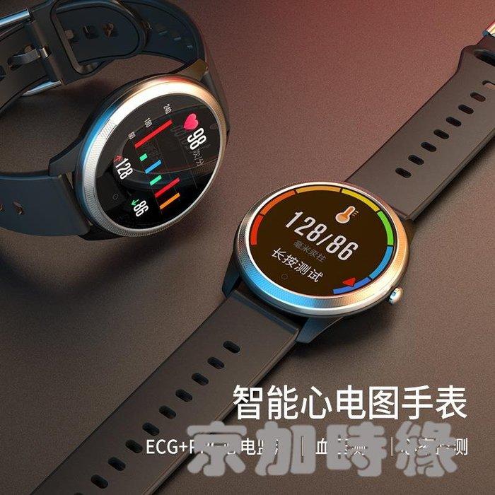 F11智能手環心率血壓睡眠心電圖中老年人防水圓屏運動計步手錶