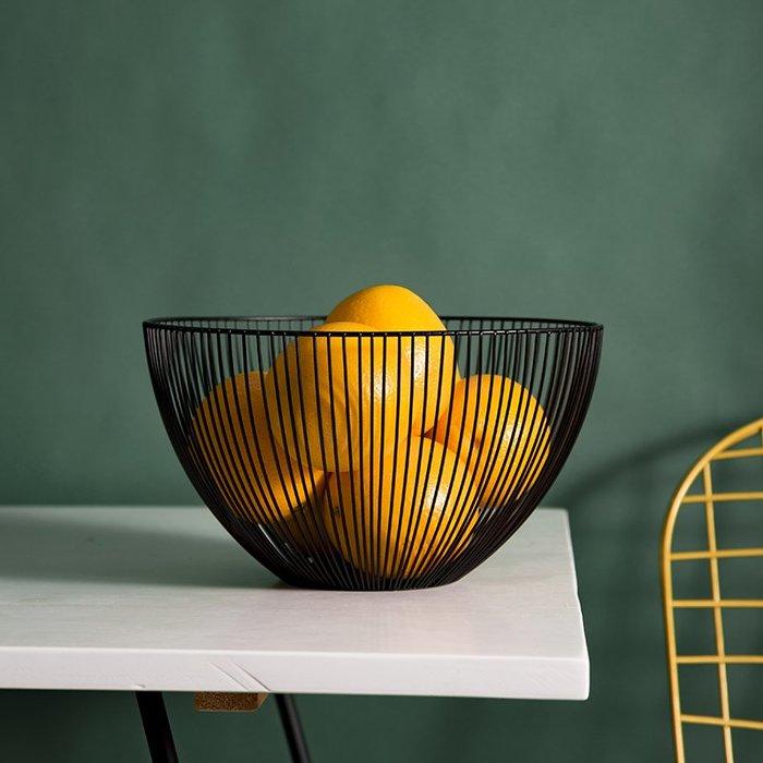 風物歐式水果籃客廳創意水果盤瀝水籃簡約家用鐵藝果盆收納籃