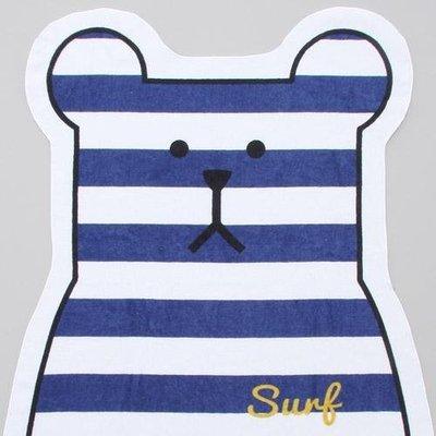 尼德斯Nydus 日本正版 宇宙人 CRAFTHOLIC 藍條紋 大浴巾 浴巾 SLOTH熊 約128cm