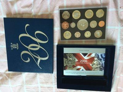 錢幣收藏愛好者英國 2006 精制 套幣 13枚 2鎊 5鎊 proof Royal Mint A 盒證齊全