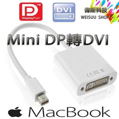 ☆偉斯科技☆蘋果 Mac book專用 Mini DisplayPort  轉DVI 轉換器 螢幕轉接器 切換器 現貨中
