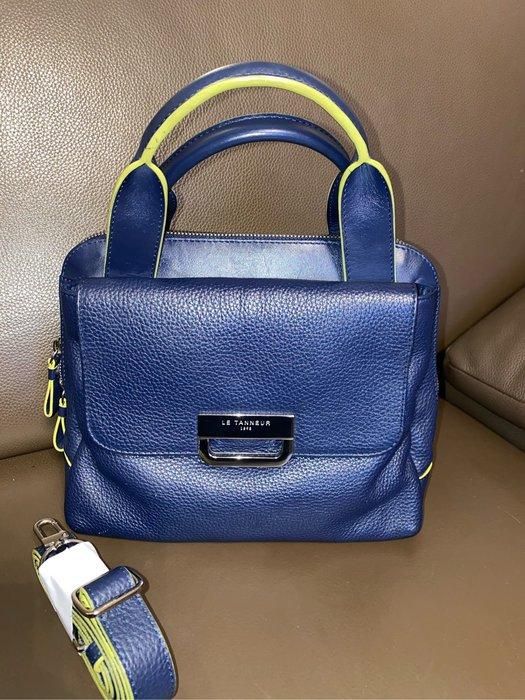 我的二手包❤️法國大牌LE TANNEUR 深藍真皮兩用包