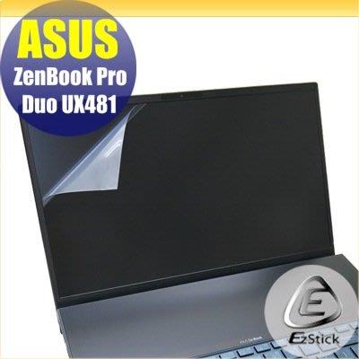 【Ezstick】ASUS UX481 UX481FL 靜電式筆電LCD液晶螢幕貼 (可選鏡面或霧面)