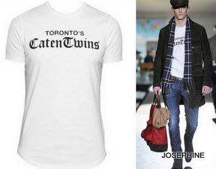 喬瑟芬【DSQUARED 2】4折特價3280含運~2012秋冬白色 Caten Twins 棉質 T恤(XS~L號)