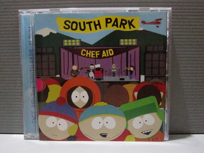 南方公園 聲援薛夫演唱會實況  Chef Aid-The South Park 卡通原聲帶 原版CD片如新 保存良好