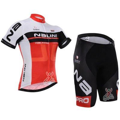 【綠色運動】2015款nalini紅白 自行車衣 腳踏車衣 騎行服 自行車服 車衣車褲短套裝 吸濕排汗透氣單車服