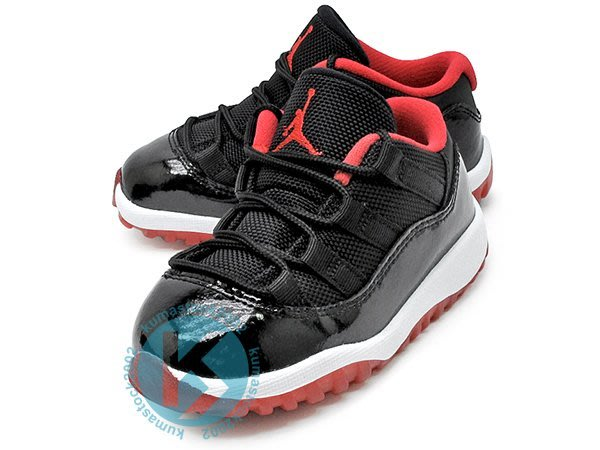 NIKE JORDAN 11 RETRO LOW  BT BRED 幼童鞋 BABY 黑紅 亮皮 505836-012