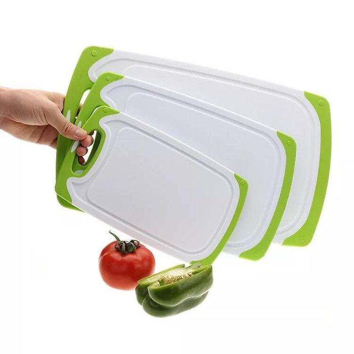 【小丸子生活百貨】3入裝加厚家用菜板(*超取限3組~) 水果砧板/厨房雙色防滑/長方形切菜板