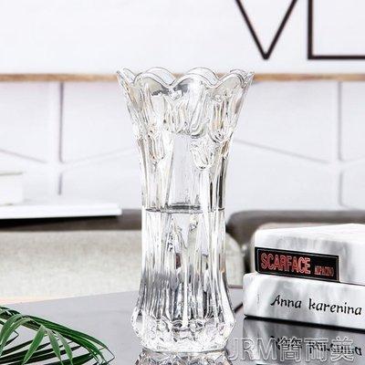 歐式玻璃花瓶富貴竹鮮花干花水培簡約現代透明客廳落地擺件CFLP