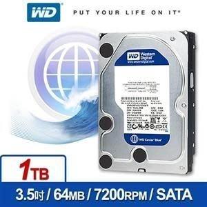 【鳥鵬電腦】WD WD10EZEX 1TB 3.5吋內接式硬碟 64M快取 7200轉 藍標 SATA3 1T 1000G 1000GB