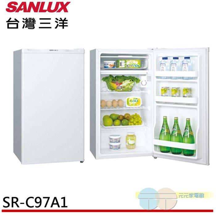 限區含配送+基本安裝*元元家電館*SANLUX 台灣三洋 97L 一級能效單門冰箱 SR-C97A1