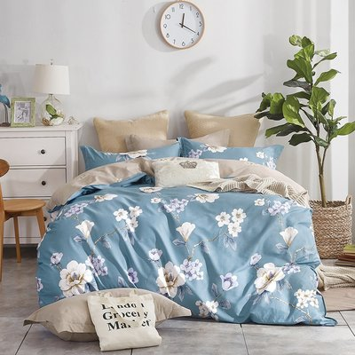 Claire Casa 台灣製 極致純棉 蜜戀花都-單人兩件式床包枕套組