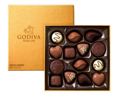 比利時GODIVA 14-piece chocolate assortment 14塊巧克力禮盒165g(預購)