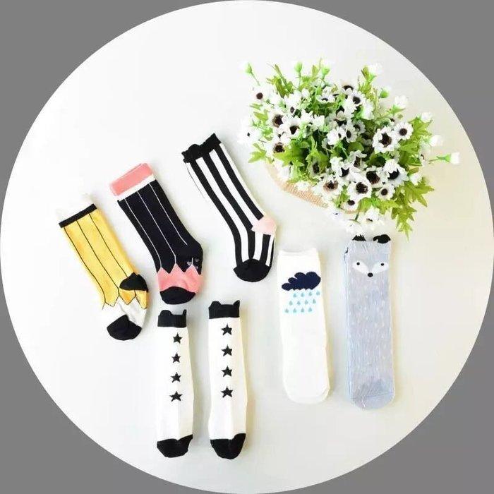 ❤️部分 ❤️超可愛女童中筒襪 直條紋 荷包蛋襪❤️❤️Moira shop❤️❤️
